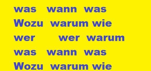 W fragen deutsch