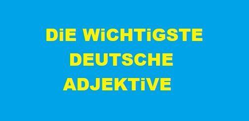deutsche adjektive