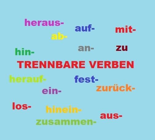 trennbare verben liste