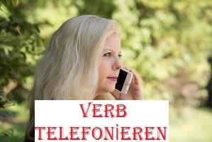 Verb telefonieren
