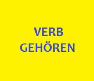 Verb gehören mit Satzen