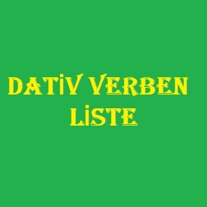 Dativ Verben Liste