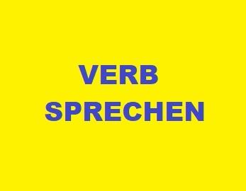Verb sprechen